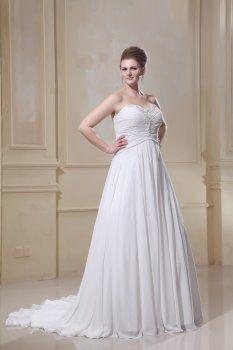 Mousseline perles chérie Cour Plus robe de mariée robe de mariée de taille