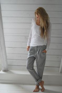 Biskopsgarden beautiful and casual Lazy Day Outfits, Mode Outfits, Casual Outfits, Spring Outfits, Outfit Summer, Dress Outfits, Pants Outfit, Casual Summer, School Outfits