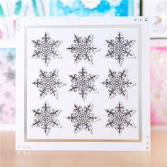 Hunkydory Christmas Liftables Pads - Sparkling Snowflakes and Christmas Cheer (375855) | Create and Craft