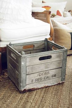 Vintage Adohr Wood and Metal Crate. $34.50, via Etsy.