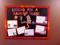 Bulletin board for RAs for the month of October.  Research haunted houses near your campus and include on each write up the cost, address, and hours.  I would hear residents outside my door looking up the addresses before they left for the night.