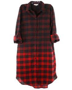 Sierra Gradient Plaid Shirt Dress
