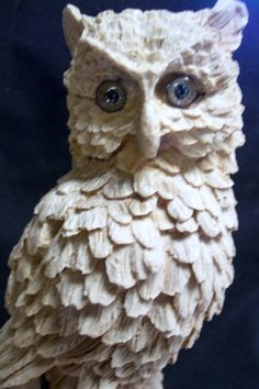 Hooty Hooty hoo! Just in time for Halloween, isn't he majestic however? White Owl Figural Sculpture 14 inches tall by KimsRareFinds