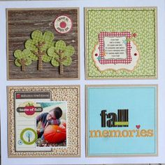 awesome idea to use 6x6 papers on a scrapbook layout