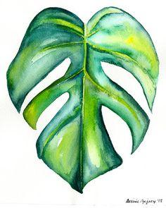 Ideas for tattoo tree small art prints Plant Painting, Plant Art, Painting & Drawing, Gouache Painting, Painting Lessons, Watercolor Plants, Watercolor Flowers, Watercolor Landscape, Beginner Painting