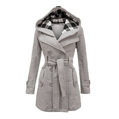 Don't want wear normal coats again? This hooded long coat will your best choice. This woolen coat with plus size XXL and XXXL, and seven colors for your choose. Color: Black,Dark Gray,Light Grey,Off-W