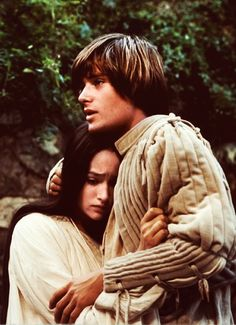 "kittyinva:  Beautiful still from ""Romeo and Juliet"" with Leonard Whiting and Olivia Hussey."