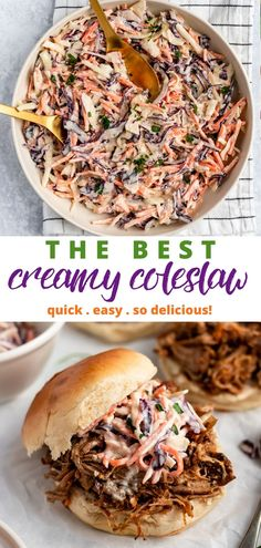 This easy coleslaw is the best coleslaw recipe that I've tried!