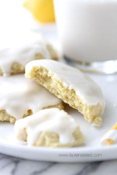 Chewy Glazed Lemon Sugar Cookies from www.laurenslatest.com