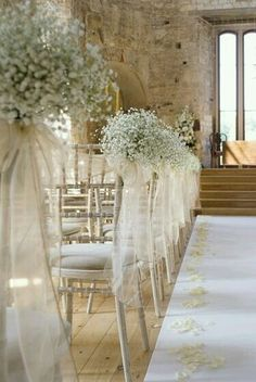 For the bride and groom chairs- leaving everything else rustic and wood would look beautiful in contrast