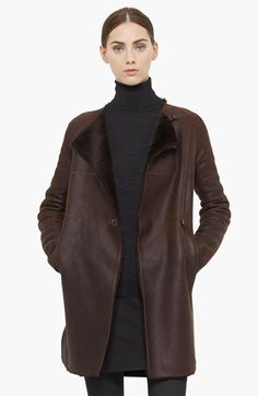 Akris punto Genuine Lamb Shearling Coat available at #Nordstrom