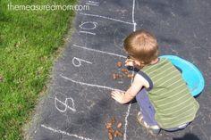 outdoor math 1 Outdoor Math Ideas for Kids Ages 3 7 Numbers Preschool, Preschool Kindergarten, Toddler Preschool, Outdoor Learning, Kids Learning, Outdoor Education, Outdoor Play, Fun Math, Preschool Activities