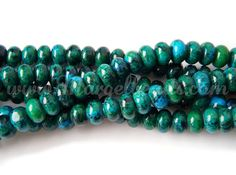 1 Strand Green Chrysocolla Rondelles by Margelbeads on Etsy Handmade Jewelry, Unique Jewelry, Handmade Gifts, Turquoise Bracelet, Beads, Trending Outfits, Green, Etsy, Vintage