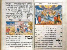 "Moravian Haggadah, 1737. Credit: Palphot Ltd., Israel. Discussed by Raysh Weiss in her article ""Seeing the Sounds: Exceeding the Frame through the Acoustical Sublime in the Revelation at Sinai"" at http://ivc.lib.rochester.edu/wp-content/uploads/2013/04/weiss3.0.jpg"
