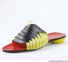 Paper Twist, 1966. Part of the collection of the Dutch Leather and Shoe museum, Waalwijk, The Netherlands. The Dutch Leather and Shoe Museum presents a surprising collection of shoes; from antique to