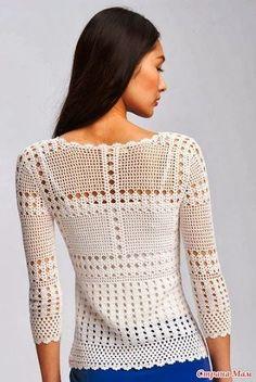Letras e Artes da Lalá: blusa de crochê