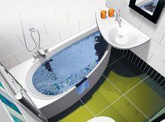 Ideas Bath Room Remodel Small Shower Bathtub Tiny House For 2019 Half Bathroom Remodel, Basement Remodel Diy, Closet Remodel, Shower Remodel, Small Bathroom Tiles, Tiny House Bathroom, Small Soaking Tub, Corner Toilet, Bathtub Shower Combo