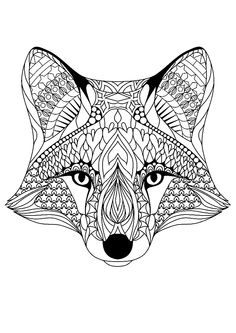 coloring pages, fox