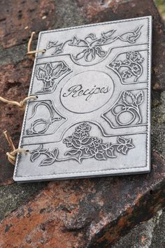 https://www.etsy.com/listing/485684038/recipe-book-pewter-vintage-paper-leather?ref=shop_home_active_1 #recipes #cookbook #pewter #metal #leather #straps #cover #1975 #vintage #kitchen #farmhouse #rustic #homestead #off #grid #measurements #baking #family #spellcraft domestic #witch #craft #Wicca #Pagan