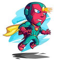 Vision chibi chibi, iron man, avengers, the avengers Marvel Avengers, Baby Marvel, Chibi Marvel, Avengers Cartoon, Marvel Cartoons, Marvel Art, Marvel Heroes, Chibi Superman, Vision Marvel