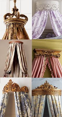 . These can work in a master bedroom, guest or child's room- so pretty! Jackie Blue Home: Bed Crowns Fit For a King