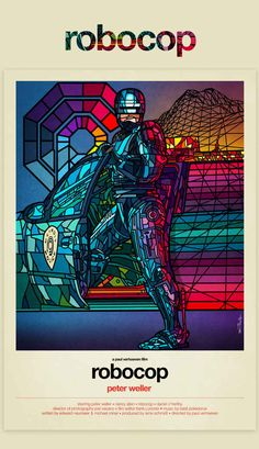 Robocop (1987) | 8 Modern Redesigns Of Classic '80s Movie Posters