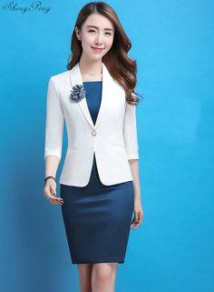 Good Offer for Ladies blazers dress suit woman office uniform designs women elegant dress suits woman business suit female blaiser If . Office Uniform, Office Outfits, Office Wear, Casual Office, Office Dresses, Stylish Office, Office Skirt, The Office, Blazers For Women