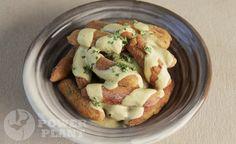 Luleki with raw cheesy garlic sauce vegan gluten free