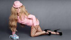 Lady Gaga Talks To Karl Lagerfeld