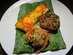 Zengo's Peru to Malaysia Test Kitchen includes dishes like this char roasted halibut with sambal butter sauce, served with crispy rice lentil cake.