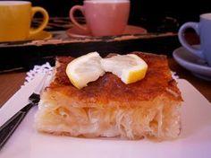gr 2016 01 i-kalyteri-zymh-gia-spitiki-pitsa-tragani. Greek Sweets, Greek Desserts, Greek Recipes, Cookbook Recipes, Dessert Recipes, Cooking Recipes, Cooking Time, Food Network Recipes, I Foods