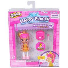 Shopkins Happy Places Bathing Bunny Doll with Petkin - Lippy Lulu #MooseToys