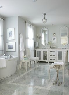 "GORGEOUS bathroom. would love to have a ""retreat"" spa-like bathroom one day :) maybe not this big... but you get the idea! haha :)"