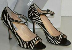 Zebra Heels, Mary Jane Heels, Peep Toe Shoes, Manolo Blahnik, Mary Janes, Pony, Christian Louboutin, Pumps, Best Deals