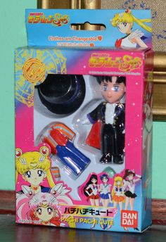 Tuxedo Mask Pachi Pachi cute figure figurine Sailor Moon SuperS Bandai Japanese #Bandai