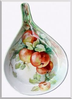 Red Apples on Porcelain