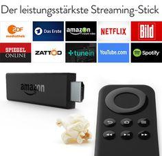 Der Fire TV Stick soll sich gegen den Google Chromecast behaupten. (Bild: Amazon)