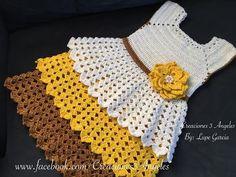 Como Hacer Vestido Tejido A Crochet Tall - Diy Crafts Crochet Bookmark Pattern, Crochet Baby Dress Pattern, Baby Knitting Patterns, Crochet Patterns, Crochet Dress Girl, Crochet Skirts, Crochet Baby Clothes, Crochet Videos, Crochet For Kids