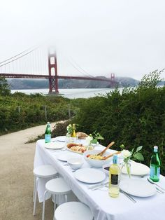 Pop Up Dinner Party by the Golden Gate Bridge