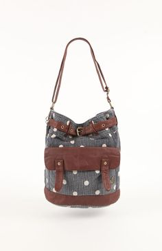 Womens Roxy Handbags - Roxy Ocean Fall Dot Crossbody Bag
