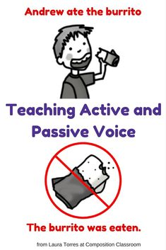 Teaching active and passive voice in the classroom. From Laura Torres at Composition Classroom.