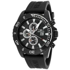 Invicta Men's Specialty Chronograph Black Dial Black Polyurethane - product - Product Review