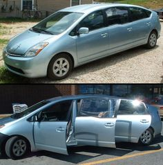 Prius Limousine  Cool 6-door custom made Prius limousine can seat 10 people. Visit our website: www.aretedi.com