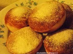 Absolut Delicios - Retete culinare: GOGOSI AROMATE DE POST Baked Potato, Hamburger, Peach, Bread, Baking, Fruit, Ethnic Recipes, Food, Party