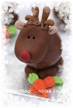 Adorable Little Chocolate Reindeer ~ I love these! So cute! #Christmas #Chocolate