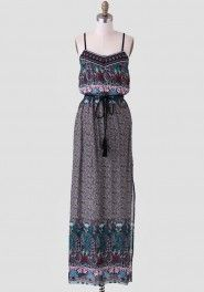 Dhaka City Paisley Maxi Dress