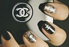 Chanel Nails. OMFG LOVE.