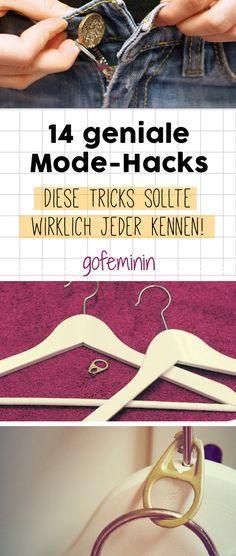 Geniale Mode-Hacks: Reißverschluss reparieren, Platz im Schrank schaffen & vieles mehr!