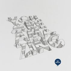 Design and Paper | TypoThursday • 3D Typography by Lex Wilson | http://www.designandpaper.com