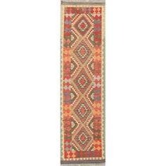 Oriental Kilim Hand-Woven Persian Southwestern Modern Wool Runner Rug - x Runner x Runner - Multi-Colored), Multicolor